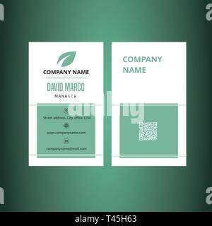 Business card template classic design