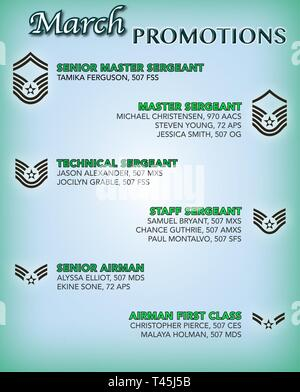 The 507th Air Refueling Wing enlisted promotion list for February