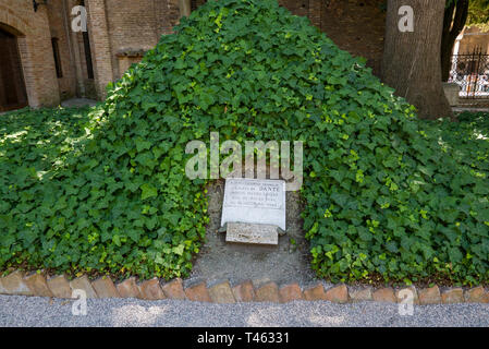 RAVENNA, ITALY 2018 AUGUST 03: Place where  Dante's bones rested during the Second World War in the city of Ravenna in Italy - Stock Photo