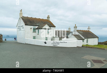 Penwith House, The First & Last House, situated at Lands End, Cornwall, Great Britain - Stock Photo