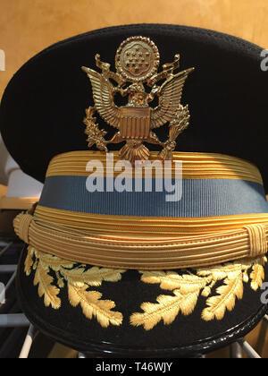 Still Life U.S.Army Field Grade Officers' Caps, USA - Stock Photo