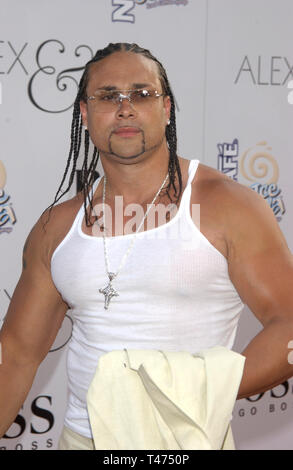 LOS ANGELES, CA. June 16, 2003: Actor CHINO XL at the world premiere, in Hollywood, of his new movie Alex & Emma. - Stock Photo