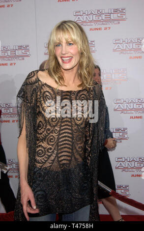 LOS ANGELES, CA. June 18, 2003: Actress DARRYL HANNAH at the Hollywood premiere of Charlie's Angels: Full Throttle. - Stock Photo