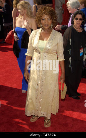 LOS ANGELES, CA. September 21, 2003: ALFRE WOODARD at the 55t Annual Emmy Awards in Los Angeles. - Stock Photo