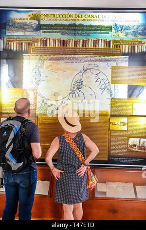 Colombia, Cartagena, Old Walled City Center centre, Centro, Museo Naval del Caribe, Caribbean naval museum, interpretive exhibit, Canal del Dique, Lev
