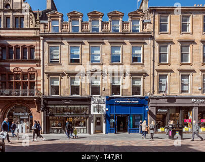 The Willow tea rooms in Buchanan Street Glasgow Scotland uk - Stock Photo