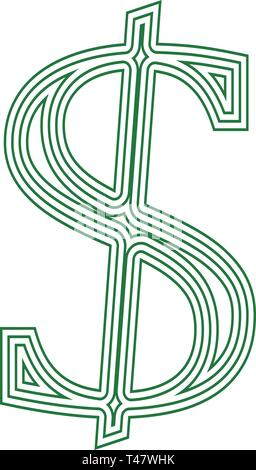 Dollar icon currency financial  sign financial symbol exchange rate vector illustration isolated on a white background - Stock Photo