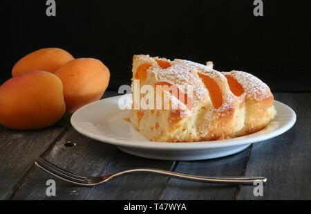 Fresh apricot pie - Stock Photo