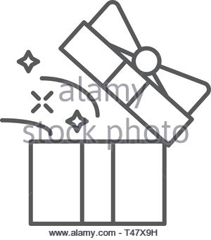 magic box star icon Element of magic for mobile concept and web apps icon Thin line icon for website design and development - Stock Photo
