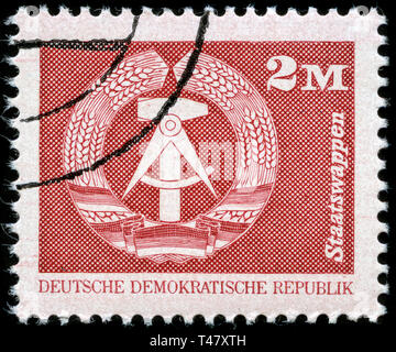 Postage stamp from East Germany (DDR)  in the  series issued in 1989 - Stock Photo