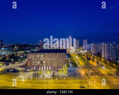 The seat of the NOSPR (the Polish National Radio Symphony Orchestra), Katowice, Silesia, Poland - Stock Photo