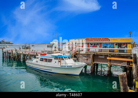 MONTEREY, CALIFORNIA - May 13, 2016: Monterey has attracted artists since the late 19th century and many celebrated painters and writers have lived th - Stock Photo
