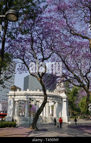 Hemiciclo a Juarez, Neoclassical marble monument, commemorating former Mexican president Benito Juárez in Alameda Central Park, Mexico City, Mexico - Stock Photo