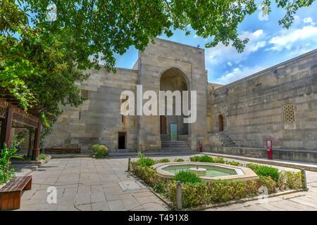 The Palace of the Shirvanshahs is a 15th-century palace built by the Shirvanshahs, located in the Old City of Baku, Azerbaijan. - Stock Photo