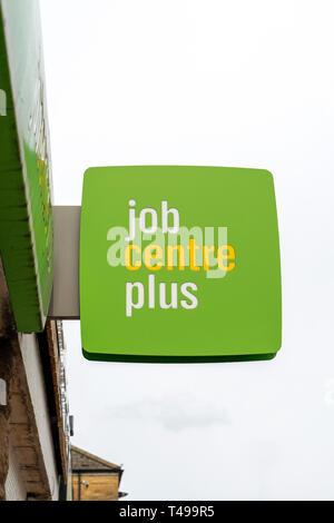 Job Centre Plus sign - Stock Photo