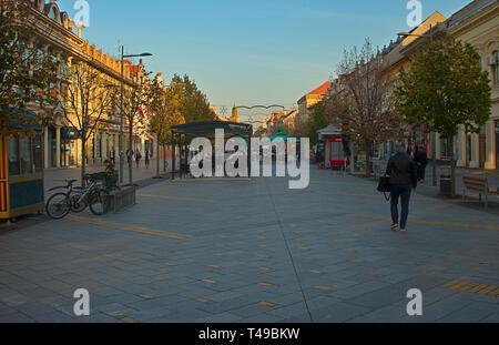 ZRENJANIN, SERBIA, OCTOBER 14th 2018 - Main promenade street - Stock Photo