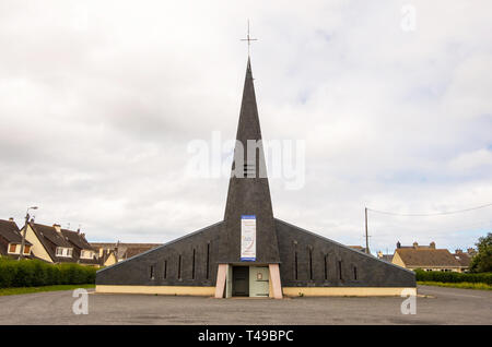 Cherbourg-Octeville, France - August 21, 2018: This is church in Cherbourg-Octeville. Normandy France - Stock Photo