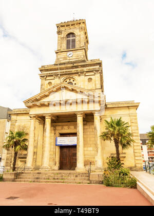 Cherbourg-Octeville, France - August 21, 2018: Eglise Saint Clement this is church in Cherbourg-Octeville. Normandy, France - Stock Photo