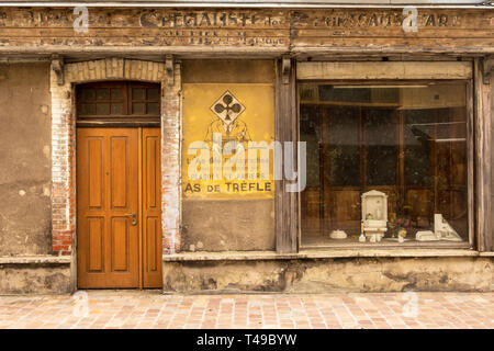 Cherbourg-Octeville, France - August 21, 2018: Old photo studio and photo shop in Cherbourg . Normandy, France - Stock Photo