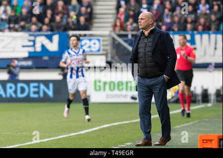 14th of april 2019 Heerenveen, The Netherlands Soccer Dutch Eredivisie SC Heerenveen v FC Groningen  Eredivisie 2018 - 2019 Johnny Jansen of Heerenvee - Stock Photo