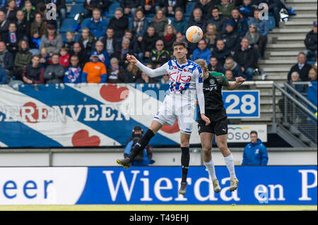 14th of april 2019 Heerenveen, The Netherlands Soccer Dutch Eredivisie SC Heerenveen v FC Groningen  Eredivisie 2018 - 2019 Pelle van Amersfoort of He - Stock Photo