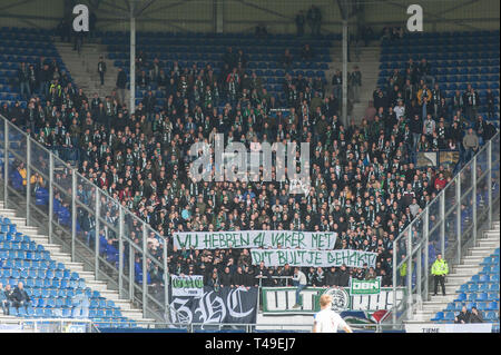 14th of april 2019 Heerenveen, The Netherlands Soccer Dutch Eredivisie SC Heerenveen v FC Groningen  Eredivisie 2018 - 2019 publiek - Stock Photo