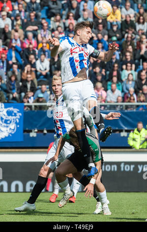 14th of april 2019 Heerenveen, The Netherlands Soccer Dutch Eredivisie SC Heerenveen v FC Groningen  Eredivisie 2018 - 2019 Daniel Hoegh of Heerenveen - Stock Photo
