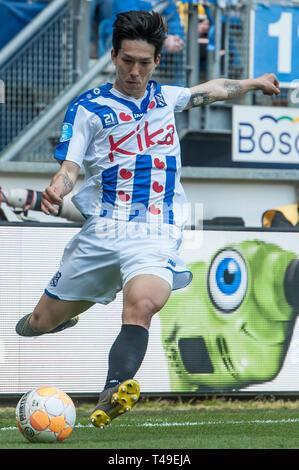 14th of april 2019 Heerenveen, The Netherlands Soccer Dutch Eredivisie SC Heerenveen v FC Groningen  Eredivisie 2018 - 2019 Yuki Kobayashi of Heerenve - Stock Photo