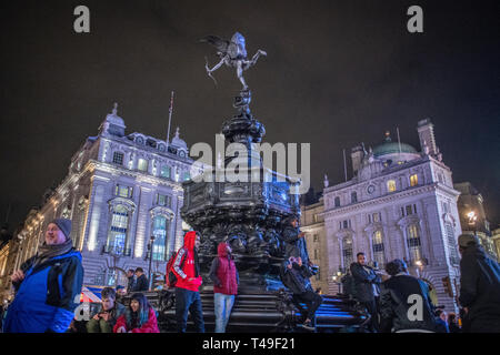 Shaftesbury Memorial Fountain, Piccadilly Circus  - London - Stock Photo