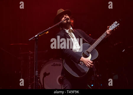 American musician Lord Huron performing at Pacific Coliseum in Vancouver, BC on February 2nd, 2019 - Stock Photo
