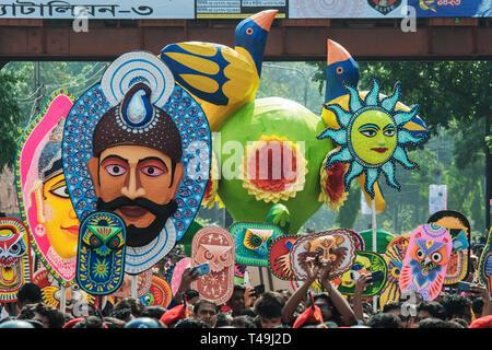 Colourful Celebration of Bangali new Year'Pohela Boishakh-1426' - Stock Photo