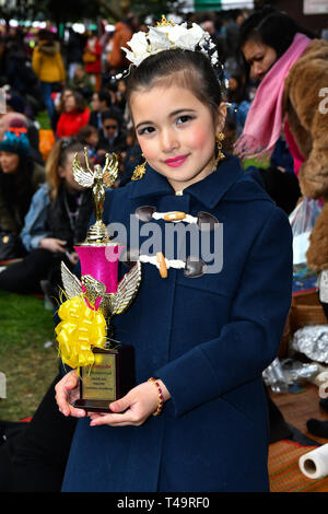 London, UK. 14th Apr, 2019. Celebrates Thai New Year (Songkran) at Buddhapadipa Temple in Wimbledon known as Songkran Water Festival, London, UK. Credit: Picture Capital/Alamy Live News - Stock Photo