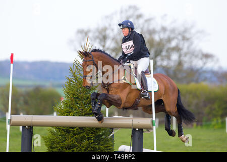 Norfolk, UK. 14th Apr, 2019. 6th Place. Pippa Funnell riding Billy Walk On. GBR. CCI4*. Section C. Barefoot Retreats Burnham Market International Horse Trials. Eventing. Burnham Market. Norfolk. United Kingdom. GBR. {14}/{04}/{2019}. Credit: Sport In Pictures/Alamy Live News - Stock Photo