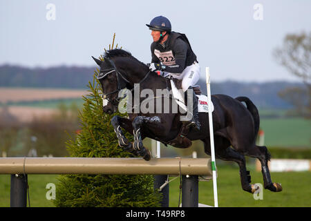 Norfolk, UK. 14th Apr, 2019. Winner. Oliver Townend riding Cillnabradden Evo. GBR. CCI4*. Section C. Barefoot Retreats Burnham Market International Horse Trials. Eventing. Burnham Market. Norfolk. United Kingdom. GBR. {14}/{04}/{2019}. Credit: Sport In Pictures/Alamy Live News - Stock Photo