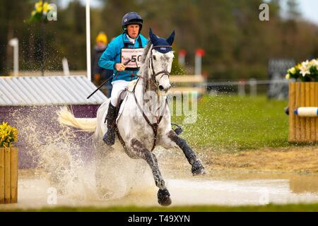 Norfolk, UK. 14th Apr 2019. 2nd Place. Tom McEwen riding Dreamaway II. GBR. CCI3*. Section A. Barefoot Retreats Burnham Market International Horse Trials. Eventing. Burnham Market. Norfolk. United Kingdom. GBR. {14}/{04}/{2019}. Credit: Sport In Pictures/Alamy Live News - Stock Photo