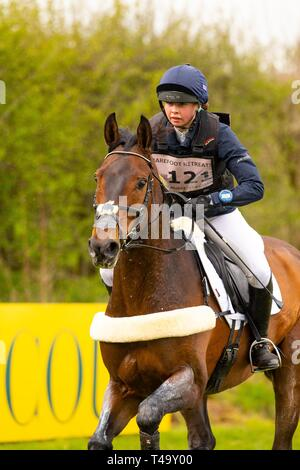 Norfolk, UK. 14th Apr 2019. Winner. Lizzie Baugh riding Quarryman. GBR. CCI3*. Section A1. Barefoot Retreats Burnham Market International Horse Trials. Eventing. Burnham Market. Norfolk. United Kingdom. GBR. {14}/{04}/{2019}. Credit: Sport In Pictures/Alamy Live News - Stock Photo