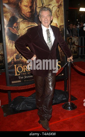LOS ANGELES, CA. December 03, 2003: SIR IAN McKELLEN at the USA premiere of his new movie The Lord of the Rings: The Return of the King, in Los Angeles. - Stock Photo