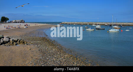 Rhos-on-Sea sandy beach - Stock Photo