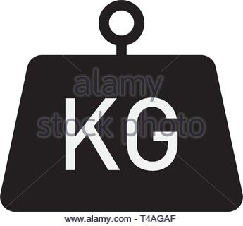 Kilogram vector icon flat style isolated on white background - Stock Photo