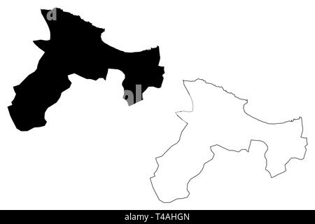 Bejaia Province (Provinces of Algeria, Peoples Democratic Republic of Algeria) map vector illustration, scribble sketch Bejaia map - Stock Photo