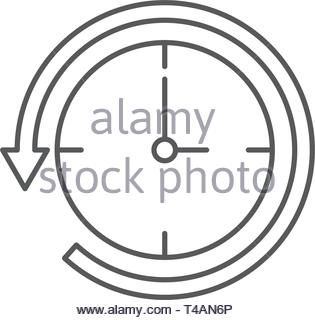 time back symbol vector icon isolated on white background - Stock Photo