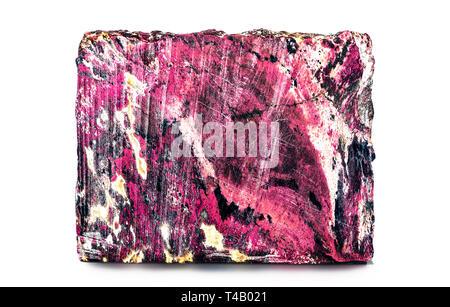 the Rhodonite, isemiprecious gem - Stock Photo