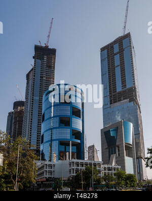 11-Apr-2019-transforming mumbai lifestyle high rise buildings under progress worli mumbai INDIA - Stock Photo