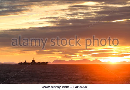 The veteran USS Mount Whitney one of two two Blue Ridge-class amphibious command ships operated by the United States Navy - Stock Photo
