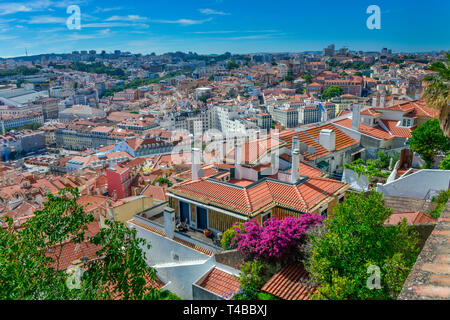 Innenstadt, Baixa, Lissabon, Portugal - Stock Photo