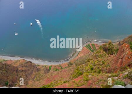 Ausssicht vom Cabo Girao, Camara de Lobos, Madeira, Portugal - Stock Photo