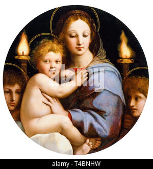 Raphael, Madonna of the Candelabra, painting, c. 1513 - Stock Photo