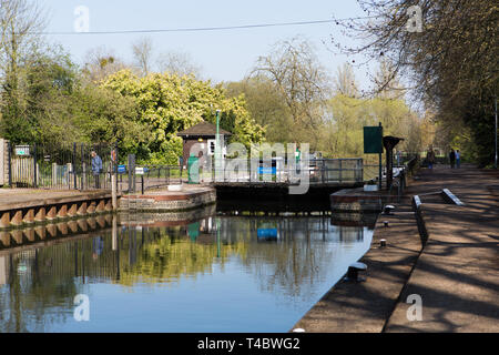 Caversham lock, River Thames, Reading - Stock Photo