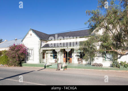 Historic Victorian architecture in McGregor, formerly Lady Grey,  housing Jo's Studio and Gallery,  Robertson Wine Valley, Western Cape, South Africa - Stock Photo