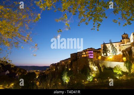 Buildings known as Casas Colgadas in Cuenca, Castilla La Mancha, Spain. - Stock Photo